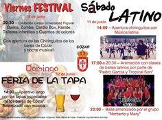 Cózar - Festival, Sábado Latino y Feria de la Tapa - Días 10, 11 y 12 de Junio de 2016