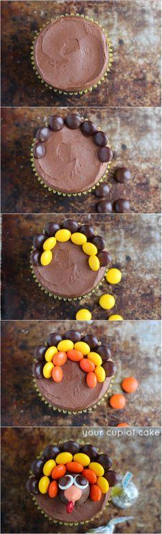 How to make Turkey Cupcakes!!