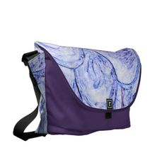 Marbled Amethyst Edges Large Fashion Bag by Janz Courier Bag