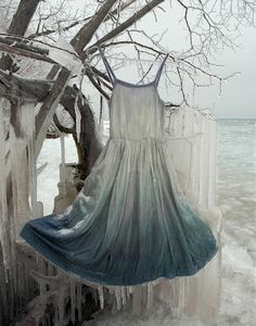 Fashionality: Dress and Identity in Contemporary Canadian Art:   Nicole Dextras, Icicle Slip. Colour photographs, 2011.