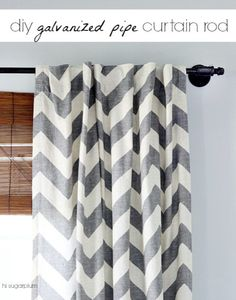 Hi Sugarplum | DIY Curtain Rods....this rod is 110-inches and cost less than $40!
