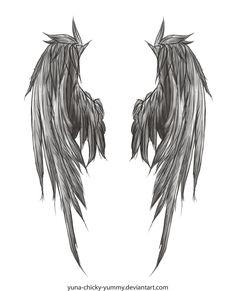 Dark Wings Tattoo by ~yuna-chicky-yummy on deviantART