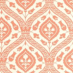 Holland Apricot Fabric by the Yard This is another way to think about the accent color - a chic simple pattern fabric to cover a bench