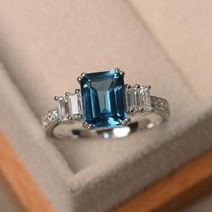 Engagement Ring Cuts, Vintage Engagement Rings, Solitaire Engagement, Blue Gemstones, Blue Topaz Ring, Citrine Ring, London Blue Topaz, Or Rose, Rose Gold