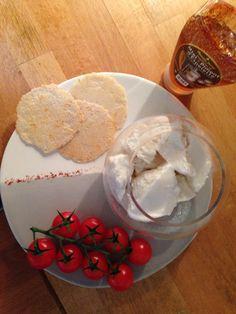 Sorbet salé chèvre et miel au piment d'Espelette