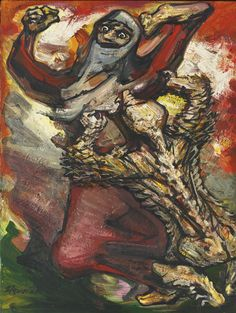 147 DAVID ALFARO SIQUEIROS (1896-1974) EL NAHUATL signed lower left acrylic on wood panel 32 by 24 in. 81.3 by 61 cm Painted circa 1965. Est...
