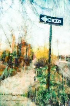 One Way Sign Art by Priya Ghose - One Way Sign Fine Art Prints and Posters for Sale #art #streetsigns #urban