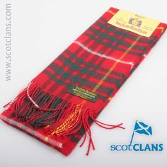 Bruce Modern Tartan Lmbswool Scarf. Free worldwide shipping available