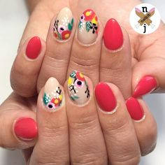 Spring Florals for @w.v.bell || @thehangedit inspo ♥️ #nailjob