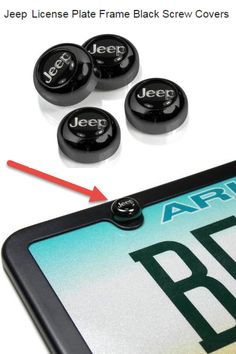 Jeep bolts for your License Plate Frame!