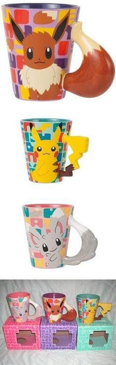 Pokemon Cups - Eevee, Pikachu and Mincchino