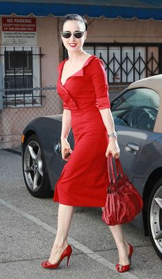 708a9ba1eb58 The Red Shirt Dita Von Teese Dress by Glamour Bunny - Dresses - Clothing