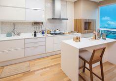 Apartamento decorado com cozinha americana: leve e suava. Blog Achados de Decoração