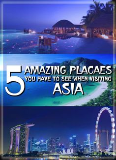 Here are top 5 places in Asia you must visit if you are planning to travel there. #travel #asia