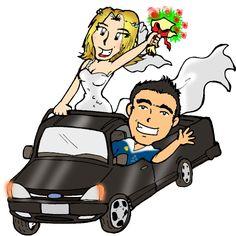 Caricatura p casamento  - Wallison e Luciene