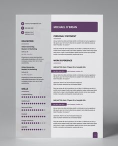 Professional templates for anyone. No need for technical skills to have a beautiful resume :) #cv #resume #pdf #resumetemplate #cvtemplate #amendabletemplate #job #jobsearch #career #success #jobs #careeradvice diymydesign.com