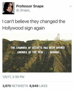 """I don't know if you guys know, someone changed the sign last week to """" HollywEEd """" with some tarps lol! ~ LovelyL"""