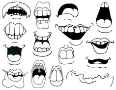 cartoon mouths | How to Draw Cartoon Mouths.