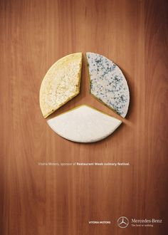 this shows logo as the cheeses looks like the mercedes benz logo