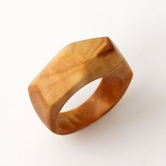 Birch burl ring  Size 8 US Wood ring Wooden rings Wood by BDSart