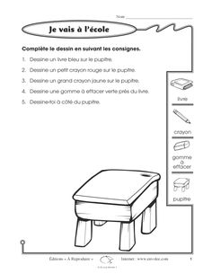 I read and draw 1 & saying from the French Basics, French For Beginners, French School, French Class, Teaching French Immersion, French Alphabet, French Worksheets, French Language Lessons, Core French