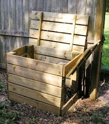 How to Build a Compost Bin with hinged lid and side door