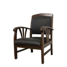 magnifique fauteuil scandinave 1960 en teck amp simili cuir noir annees 60 vintage maison. Black Bedroom Furniture Sets. Home Design Ideas