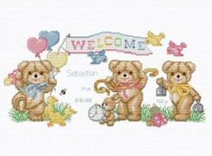 Birth Announcement Cross Stitch Kits | CROSS STITCH BABY BIB PATTERNS | Browse Patterns