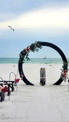 Beach Ceremony, Wedding Ceremony, Our Wedding, Beach Wedding Photos, Beach Weddings, Wedding Inspiration, Wedding Ideas, Ceremony Decorations, Wedding Flowers
