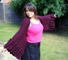 DIY Knitting DIY Yarn : DIY Knit Big Cuff Sweater Wrap