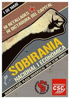 sobirania nacional i econòmica. 1 de maig 2012, Intersindical CSC