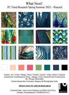 #Peacock #peacockcolors #SS2021 #WhatNextPCTrendResearch #PriyaChanderDesigns #FashionForecastByPriyaChander #ColorTrendsByPriyaChander #fashionconsultant #fashiondesigner #springsummer2021 #fashionforecaster #fabricprints #interiordecor #fashionforecastspringsummer2021 #interiors #homedecor #InteriordesignTrends #knitwear #hautecouture #fashionweekSS2021 #colortrendsSS2021 #fashionforecast #fashion #art #design #fashionresearch #fashionforecasting #sportswear #wallart #folkart #creative… 2020 Fashion Trends, Spring Fashion Trends, Color Trends, Design Trends, Colour Schemes, Trend Council, Fashion Forecasting, Colorful Fashion, Print Patterns