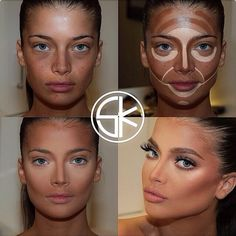 Conturing is the most important part of your make-up! Because hide some your bad parts, like a concealer and putting an accent on your face shapes. I hope this will help you on your next make-up! Power Of Makeup, Beauty Makeup, Eye Makeup, Hair Makeup, Doll Makeup, Face Contouring, Contour Makeup, Contouring And Highlighting, Contour Face