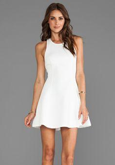 BARDOT Scuba Skater Dress in White