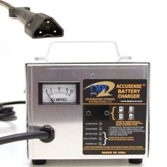 Golf Cart Battery Charger with EZ-Go RXV Connector 48volt 17amp 9 Ft Cord New #AccusenseIntelligentCharger