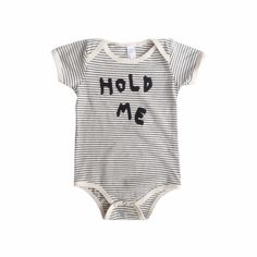 Striped 'Hold Me' One-Piece by Kid+Kind