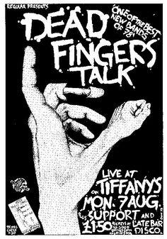 The Edinburgh Gig Archive - Tiffany's 1978  7th August Dead Fingers Talk #stockbridgeedinburgh #stockbridge #edinburgh #scotland