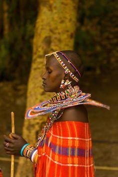 A Maasai woman, Amboseli National Park, Kenya #world #cultures