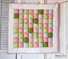Honeybear Lane Puff Quilt, comes in all kinds of fabric options