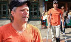 Jon Bon Jovi, 52, looks his age as he hobbles along on crutches #DailyMail                                                                    This heading pisses me off...haters...grrrrrrrrrr