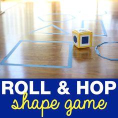 Super simple Roll & Hop Shape Game