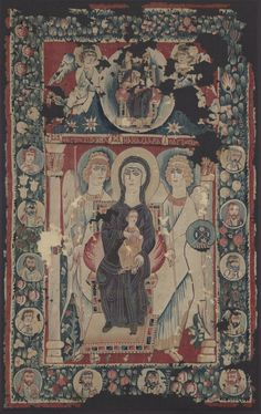 Icon of the Virgin & Child | Cleveland Museum of Art. Coptic Tapestry, Egypt, 500s