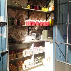A pretty pantry - SEKTION Ikea kitchen by House and Home Mag for IDS15 via Rambling Renovators