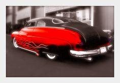 Red Hot Hotrod 1950 Mercury | repinned by www.BlickeDeeler.de