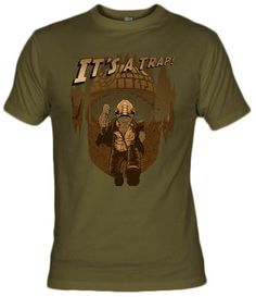 Camiseta Its a Trap por JC Maziu - Star Wars - Indana Jones - Fanisetas - Almirante Ackbar
