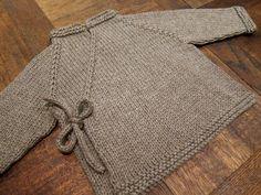 Baby wrap sweater knitting pattern