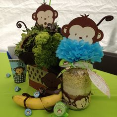How adorable is this? Monkey Baby Shower ideas!