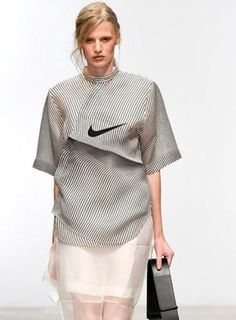 Sports luxe trend of Nike. #sportsfashion #activewear #Fitgirlcode www.redreidinghood.com