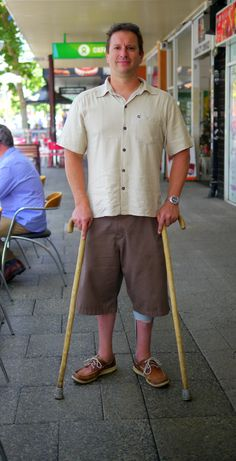 """""""They said I broke my back and damaged my spinal cord.  I met people who just slipped in the bath and broken their back, broken their neck, never to walk or use their arms again.  I am very lucky because they thought I wasn't going to walk again.  I am walking now with canes.   When I get a chance, I still go paragliding.  I love the feeling of being like a bird and exploring just below the clouds."""""""