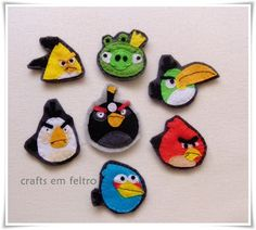 pencil-toppers angry birds. Made in felt